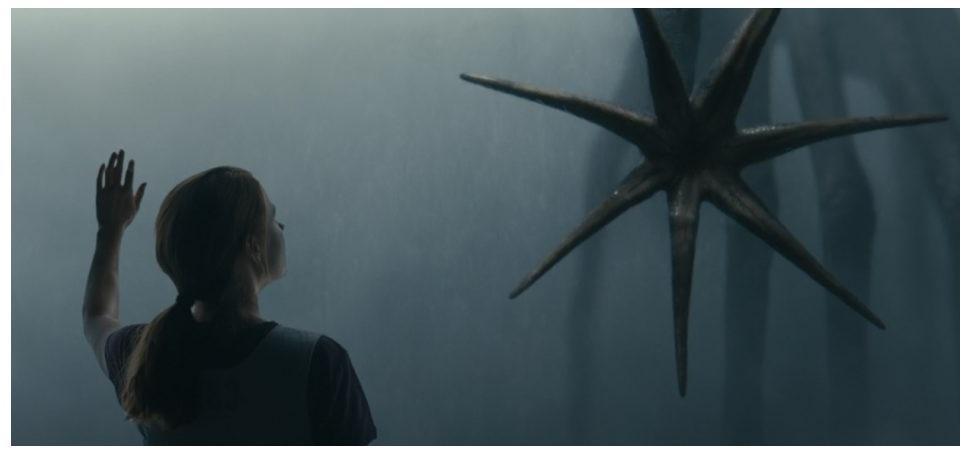Captura de la película La llegada. Lenguaje Extraterrestre